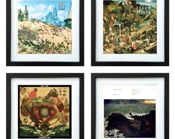 Fleet Foxes - Framed Album Art - Set of 4 Images