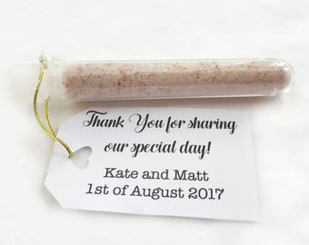 Wedding favour sherbet test tubes - party favours and anniversaries