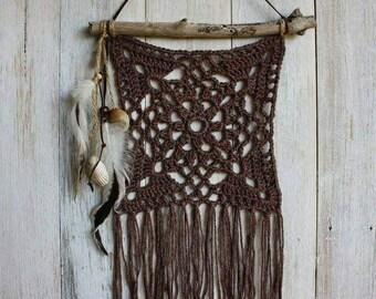 Beautiful Handmade Crochet and Driftwood wall hanging/wallhanger,boho decor,boho, boho chic, hippy style, beachy style