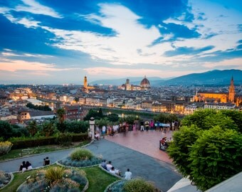 Florence Cityscape, Italy, Sunset, Italy Print, Photographic Print, City, Renaissance, Architectural Photo, Cityscape, Florence Photography