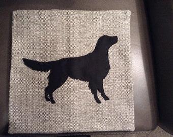 Flat-Coated Retriever Cushion Cover