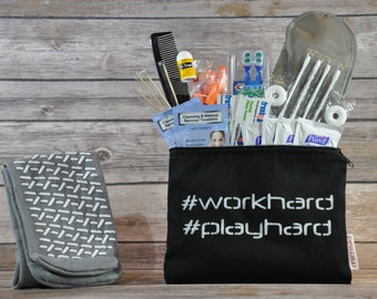 Custom Curated Hand Stenciled Comfort Kit - #workhard #playhard