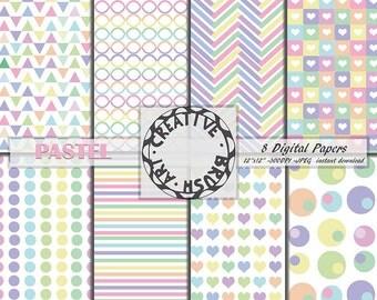 Digital paper pastel