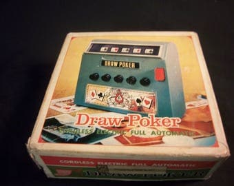 Vintage Battery Powered Desk Top Draw Poker Made in Japan Waco 1971 Works