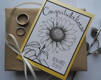 Handmade Custom Wedding Card, Engagement Card, Bridal Shower Card, Anniversary Card