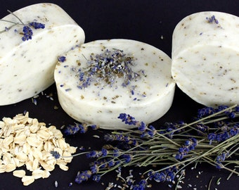 Lavender Oatmeal Exfoliating Bar Soaps