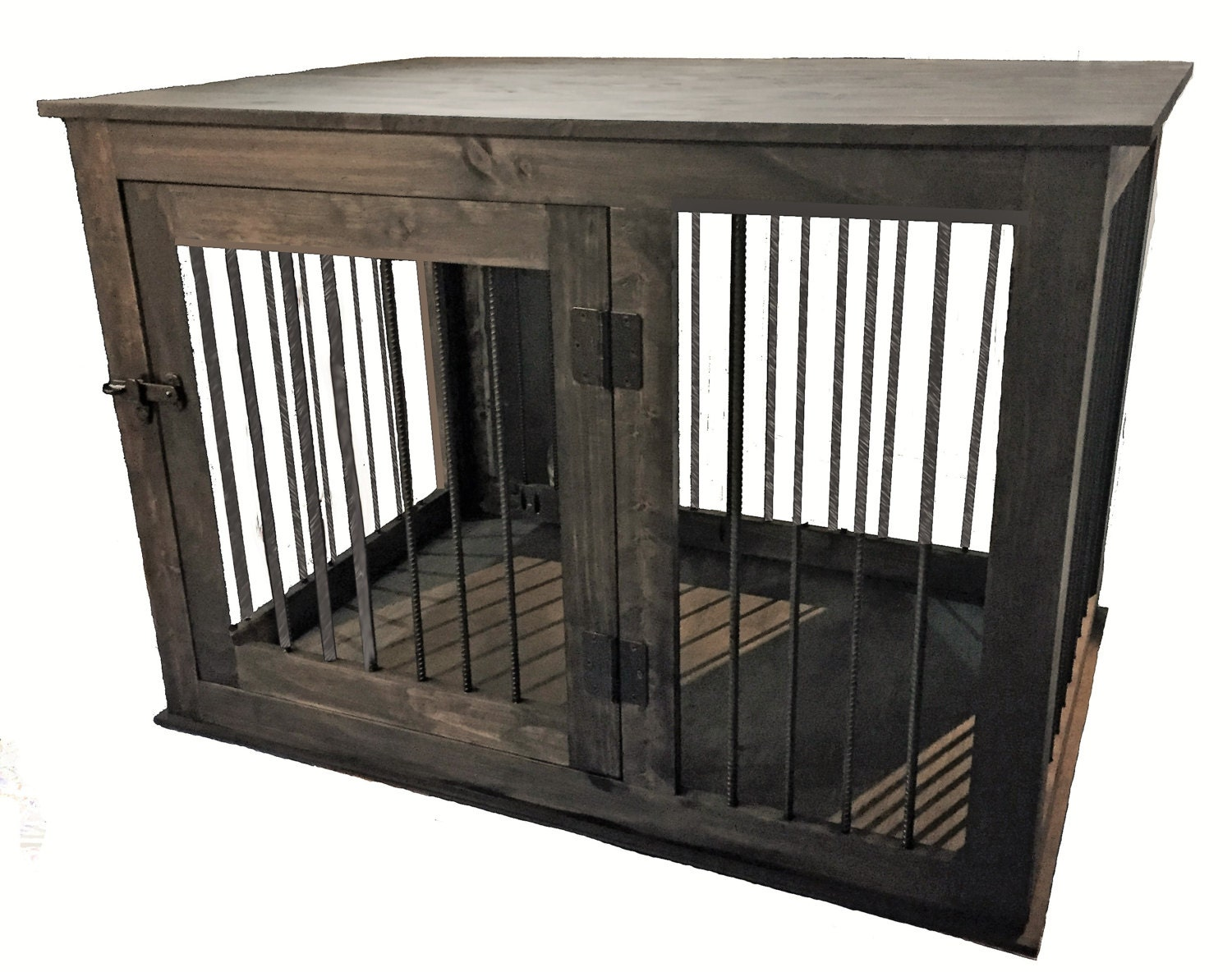 Extra Large Rustic Handcrafted Dog Crate Kennel