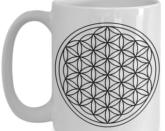 Sacred Geometry Flower of Life 15oz Coffee Mug