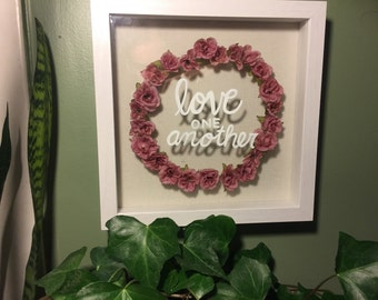 Love One Another | Bible Verse | Shadow Box Art