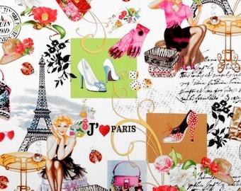 Cotton Fabric Quilting Timeless Treasures April in Paris Panel