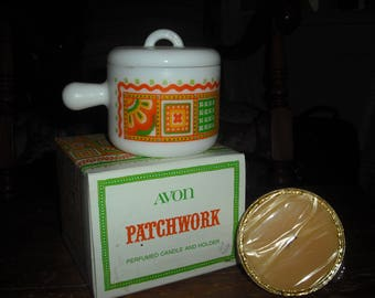 Avon's Patchwork Candle and holder is one of many Patchwork pieces.