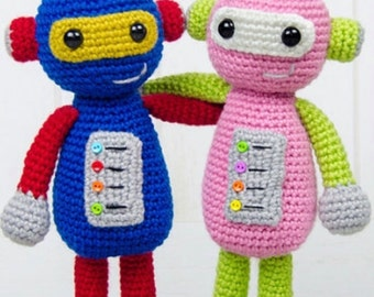 Whizz and Penny the Robot - Handmade Crochet MADE TO ORDER
