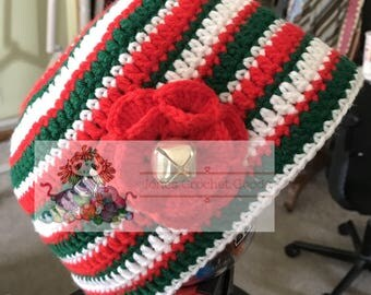 Christmas Beanie with Bell