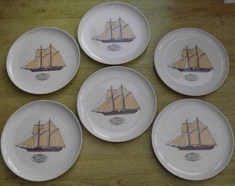 Melania Tableware Monte Carlo Nautical Yacht Plates