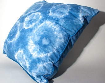 "Hand Dyed Shibori Pillow 20x20"""