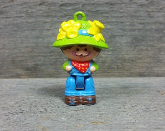 Vintage Strawberry Shortcake Man Farmer Father 80's figurine pvc plastic figure Doll hasbro toys