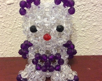 Faceted bead bear