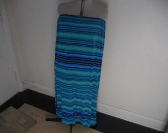 Blue Striped Skirt/Dress