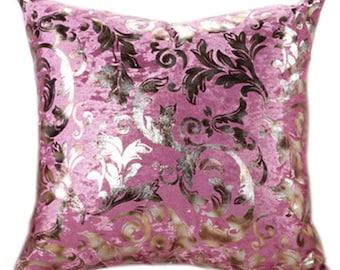 Pink Lovers Girly Girl  Bed Pillow Cushion Velvet