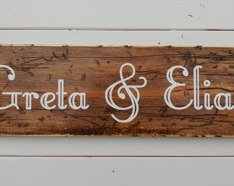 "Custom sign, rustic wood sign, rustic wall decor, distressed wooden sign, 7.25"" x 24"", inspirational wooden sign"