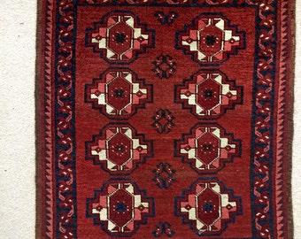 Small vintage Afghan mat