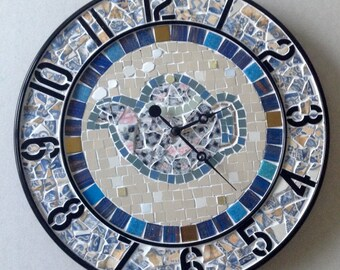 Mosaic teapot clock