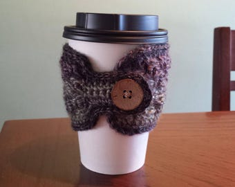 Cup Cozy - Purple & green multi