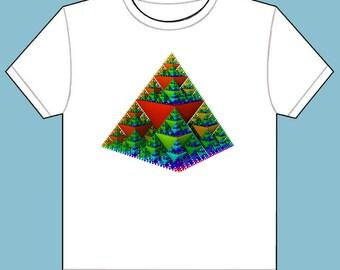 New T-Shirt Fractal Pyramid