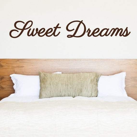 Bedroom decor - Bedroom Wall Decal - Sweet Dreams Wall Decal - wall decal - Kids room ideas - Nursery Ideas - Headboard