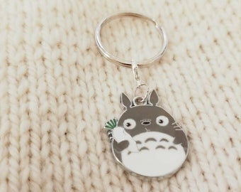 Totoro, Keychain, Studio Ghibli, Progress Keeper, Planner Charm, bullet journal, Stitch Marker, Crochet, Knitting, Anime, ghibli keychain