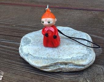 Moomin Little My Charm Keychain Handmade
