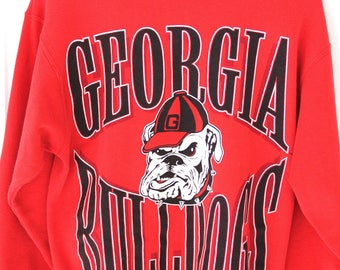 80's Vintage GEORGIA BULLDOGS Sweatshirt UGA sec Athens Georgia Go Dawgs Size Medium