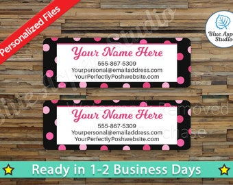 Generic Labels Stickers Printable Return Address Label Logo Digital Printed Personalized Custom PDF Sticker Vistaprint GEN-AL102