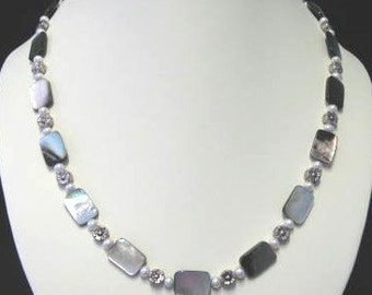 Natural Mother of Pearl necklace and bracelet