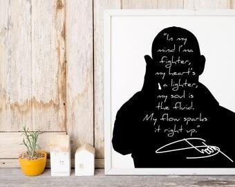 """Eminem """"In My Mind I'm a Fighter"""" Art Print"""