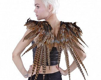 Over the Shoulder Natural Pheasant Feather Wings -WG50RN--N