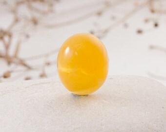 Genuine Baltic Amber Cabochon- Gemstone cabochon- Rare Butterscotch Colour