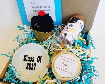 Graduation Gift Box. Congratulations Grad. Gift for Grad. Class of 2017.