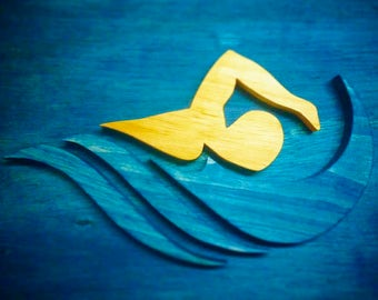 Swimmer Plaque
