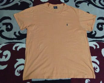 vintage POLO RALPH LAUREN t shirt small pony embroidered size xL