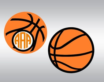 Basketball monogram SVG Clipart Cut Files Silhouette Cameo Svg for Cricut and Vinyl File cutting Digital cuts file DXF Png Pdf Eps