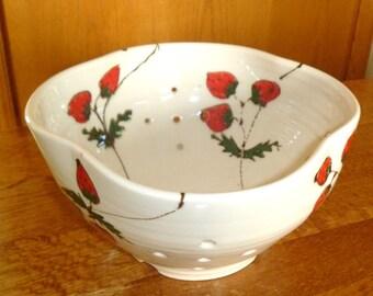 Strawberry Berry Bowl Colander