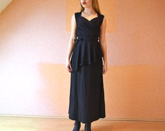 Emma dress long evening dress long black dress long blue dress