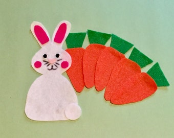 Five Little Carrots - Children's Felt / Flannel Story for Early Childhood Education