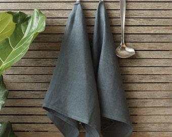 Grey Linen Tea Towel,Linen Dish Towel,Gray Linen Kitchen Towel,Natural Linen Towels,Kitchen Linens,Pure Linen Kitchen Towels,Linen Housware