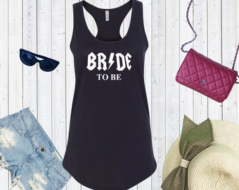 Bride To Be Tank Top .Bridal Party.Bridesmaid Shirts.Bachelorette Party Tank Tops. Custom Bachelorette. Rock n Roll Bride [W0211,W0214]
