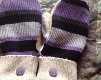 PANCAN Fundraiser striped mittens