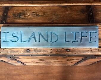 Island life, tiki bar, beach house, beach sign, carved sign, bar decor, wood sign, island art, beach life, bar sign, tiki bar sign, pool