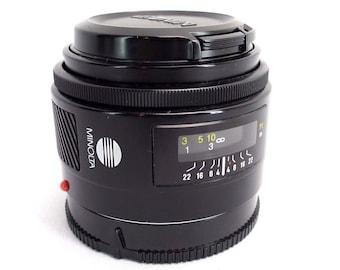 Vintage MINOLTA Maxxum AF 28mm 1:2.8 SLR Prime Camera Lens Sony Alpha 1980s