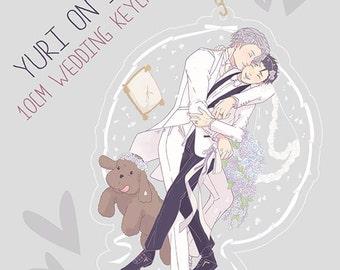 PREORDER - Yuri On Ice: Clear 10cm Wedding Keychain